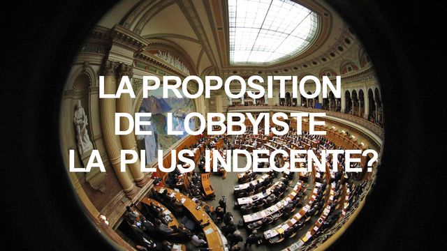 Homo Politicus 9 Lobbyiste [Peter Klaunzer - Keystone]