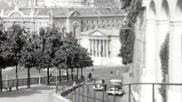 Images de la Treille à Genève, en 1954. [RTS]