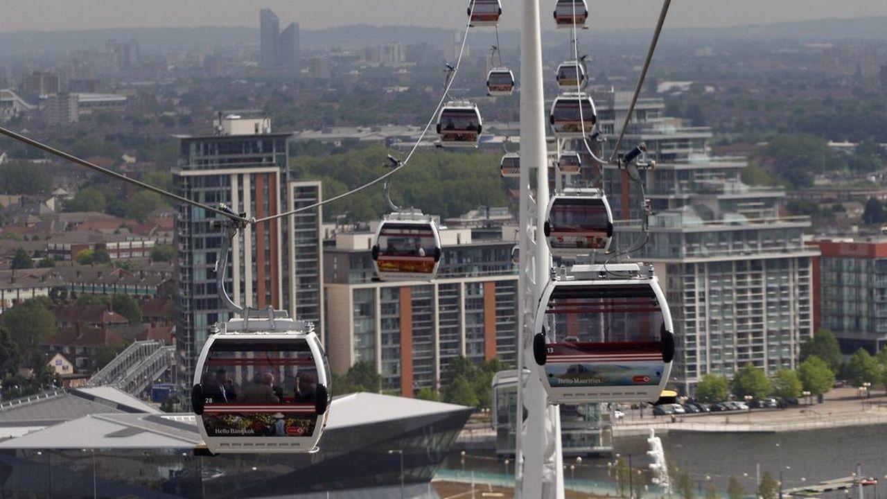 Le système du métrocâble est notamment utilisé à Londres. [EPA/TAL COHEN - Keystone]
