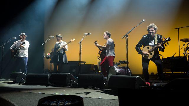 Louis, Anna, Joseph et Matthieu Chedid sur la scène de l'Auditorium Stravinski de Montreux. [Lionel Fusin - FFJM]