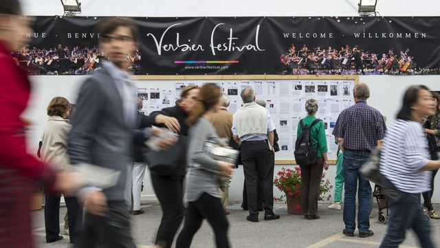 Le Verbier Festival se déroule du 17 juillet au 2 août 2015. [Jean-Christophe Bott - Keystone]