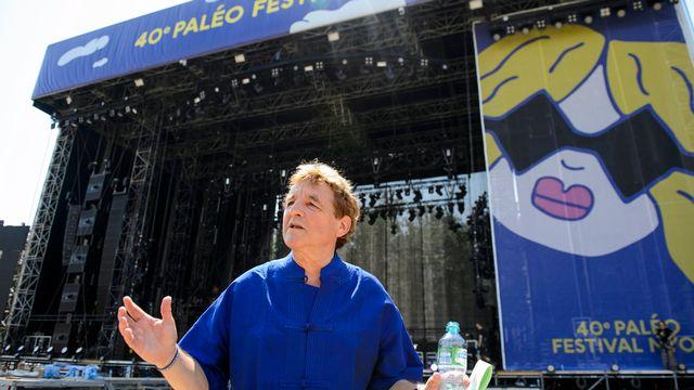 Daniel Rossellat devant la Grande Scène, le 19 juillet 2015. [Jean-Christophe Bott - Keystone]
