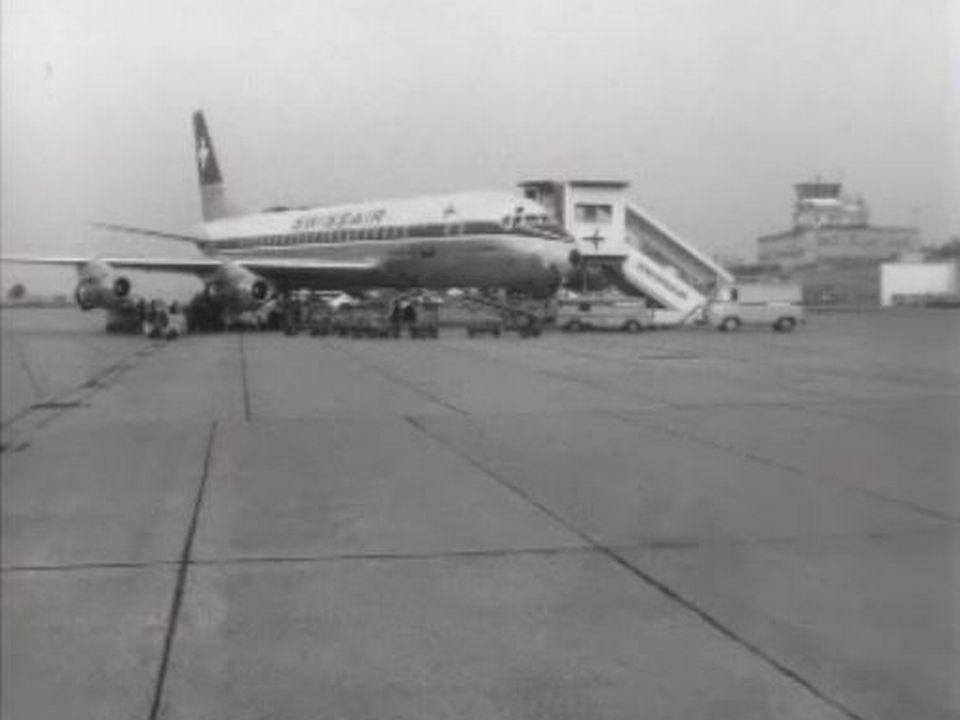 Avion de la compagnie Swissair, 1961. [RTS]