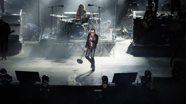 Johnny Hallyday sur la scène du Paléo, jeudi 23 juillet 2015. [Lionel Flusin - Paléo ]