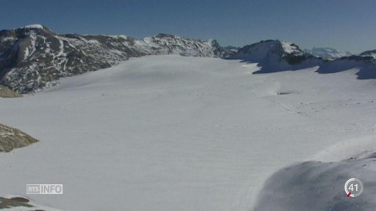 BE: un lac de glacier menace le village de la Lenk [RTS]