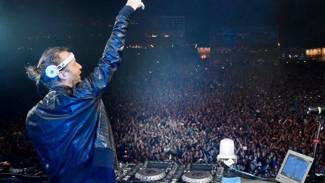 David Guetta a fait danser la plaine de l'Asse. [Laurent Gillieron]