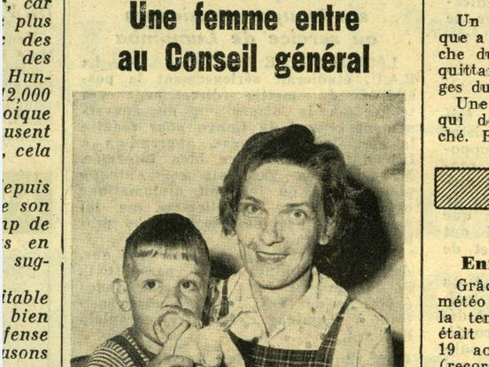 Lucette Favre, Feuille d'Avis de Neuchâtel, 27 août 1960. [Archives de la Ville de Neuchâtel]