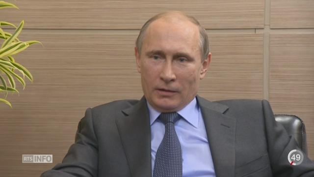 Course à l'armement - Futur de l'Europe - Affaires de la FIFA: entretien avec Vladimir Poutine [RTS]