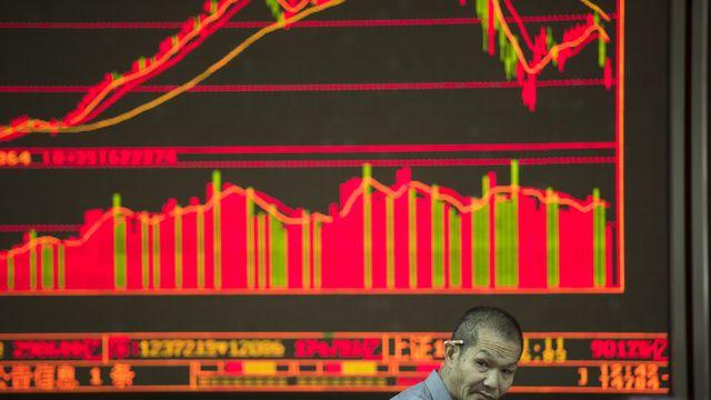 La bourse de Shangai avait terminé dans le rouge lundi. [Fred Dufour - afp]