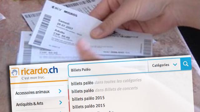 Des billets du Paléo Festival ont été vendus jusqu'à 200 francs sur ricardo.ch. [RTS]