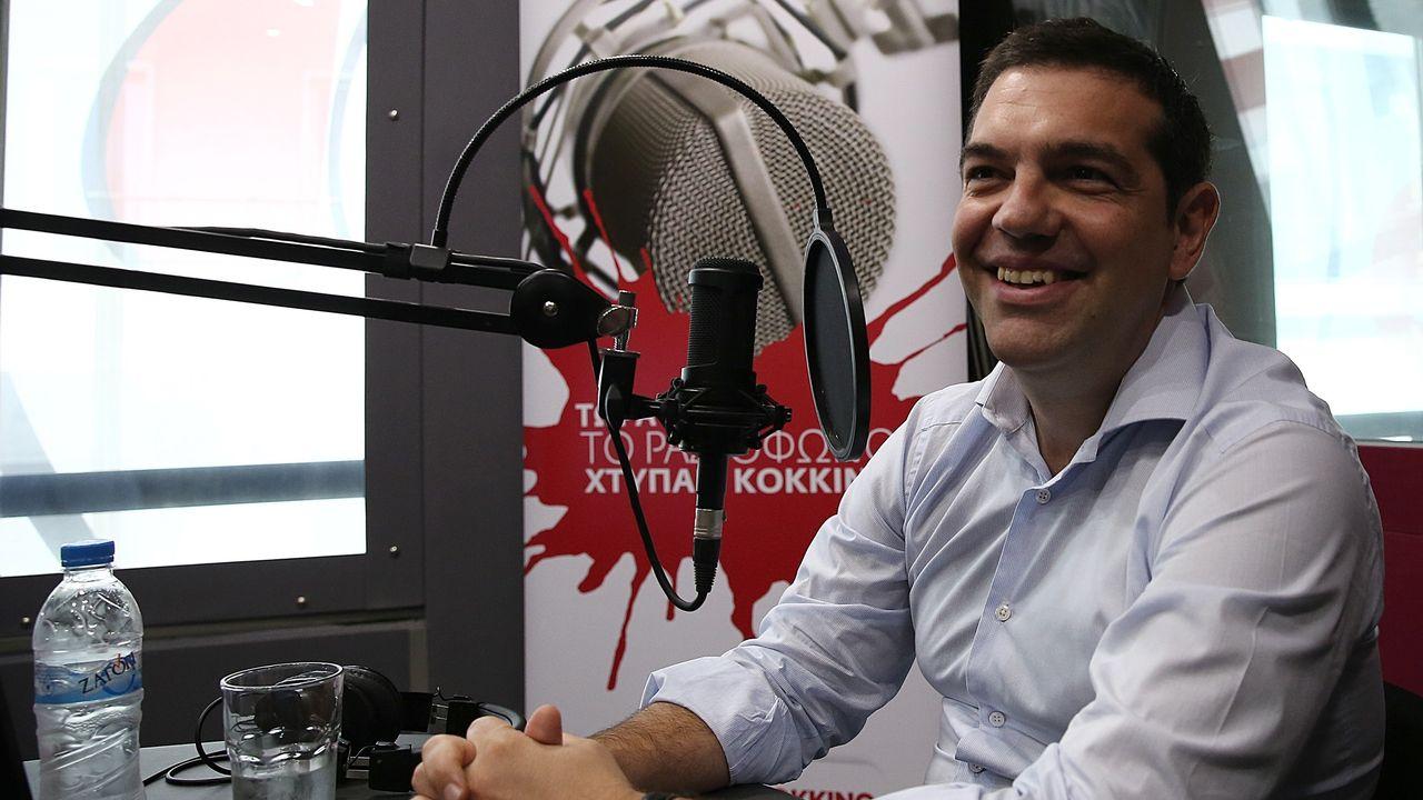 Alexis Tsipras, chef de Syriza. [Anadolu Agency - Ayhan Mehmet]