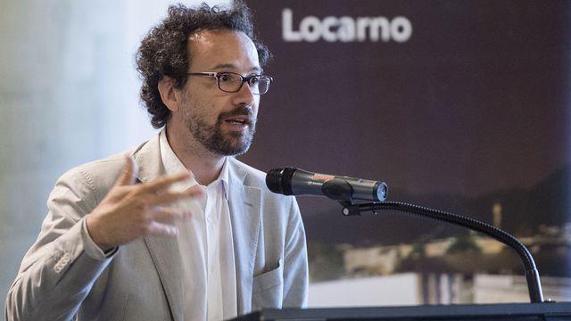 Carlo Chatrian lors d'une conférence de presse, le 15 juillet 2015 à Locarno. [Marcel Bieri - Keystone]