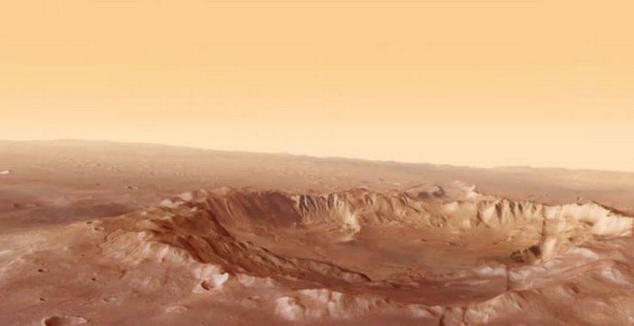 La zone Atlantis Chaos se trouve dans l'hémisphère Sud de la planète Mars.