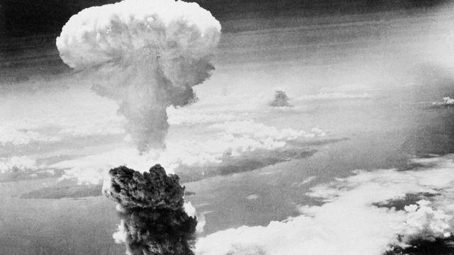 La bombe atomique lâchée sur la ville de Nagasaki en 1945. [AP Photo/Keystone]