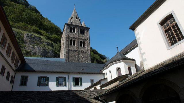 L'Abbaye de Saint-Maurice sera à la fête dès mardi soir. [Jean-Christophe Bott - Keystone]