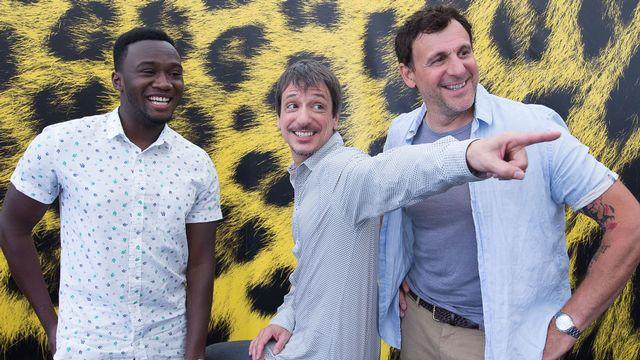 De gauche à droite, Irdens Exantus, Philippe Falardeau et Patrick Huard. [Massimo Pedrazzini - Festival del Film Locarno]