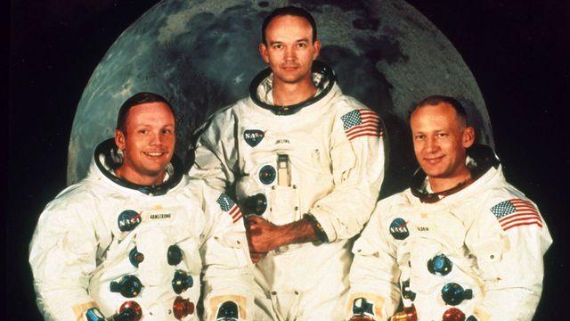Neil Armstrong, Buzz Aldrin, et Michael Collins, l'équipage de la mission Apollo 11 vers la Lune en 1969. The Art Archive / The Picture Desk  AFP [The Art Archive / The Picture Desk  - AFP]