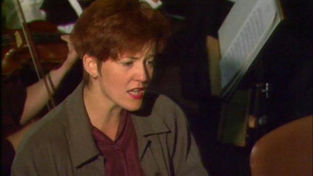 La soprano Brigitte Fournier lors de la Schubertiade de Sion en 1990. [RTS]