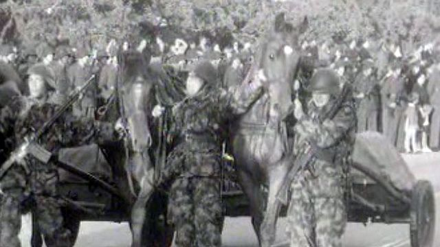 Au défilé du régiment 6, les chevaux font grande impression.