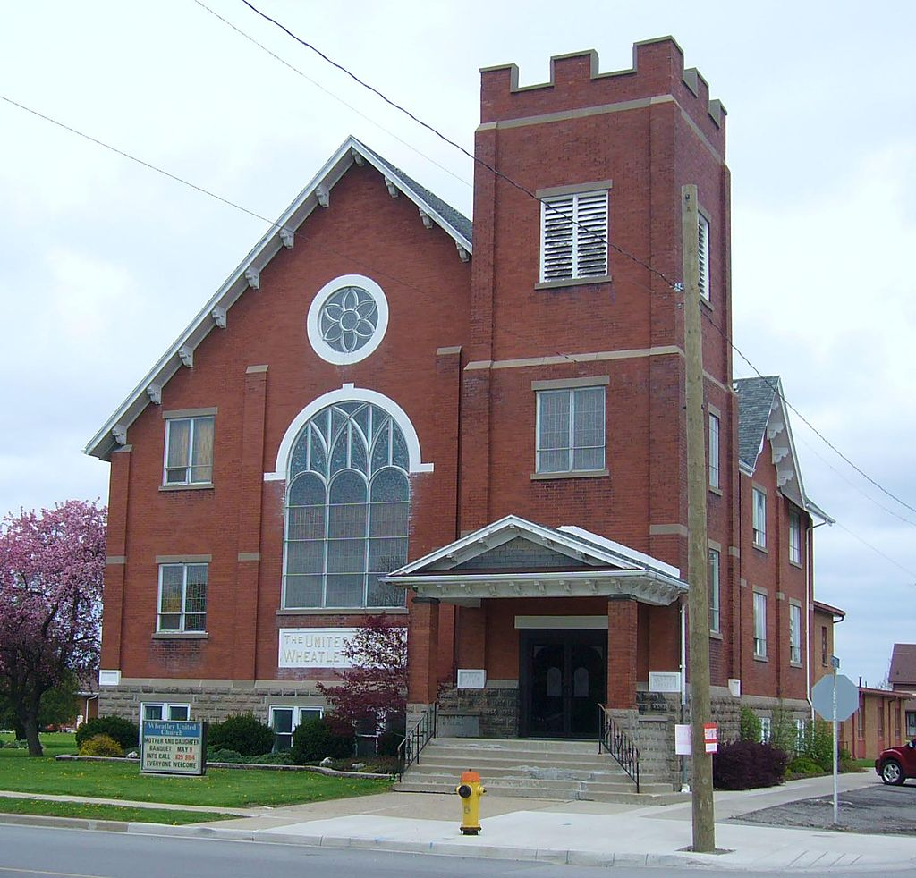 L'église de Wheatley en Ontario.