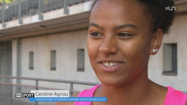 Athlétisme: l'heptathlonienne Caroline Agnou finalise sa préparation pour les Championnats du monde de Pékin [RTS]