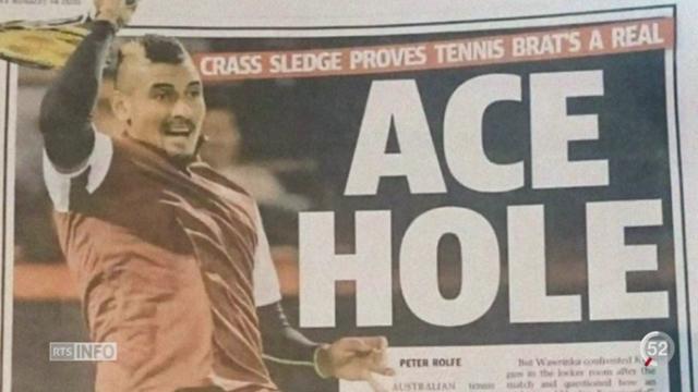 Tennis: Kyrgios est sanctionnné pour ses propos insultants envers Wawrinka [RTS]