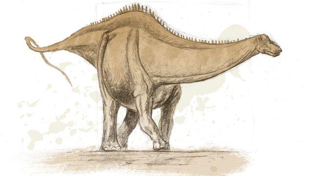 Représentation d'artiste d'un sauropode. Jurassica/ikonaut [Jurassica/ikonaut]
