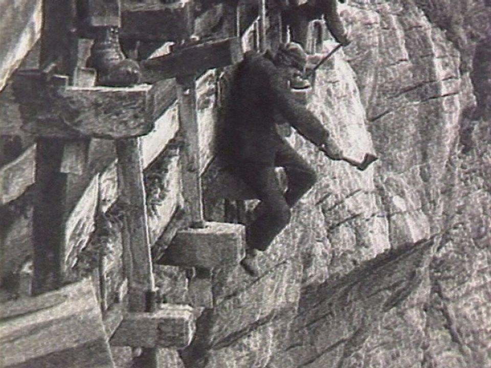 Les bisses du Valais en 1983. [RTS]