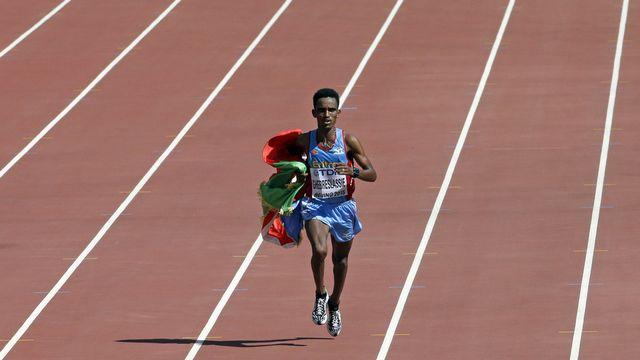 Ghirmay Ghebreslassie est entré dans l'histoire de l'athlétisme et de son pays. [Kin Cheung - Keystone]