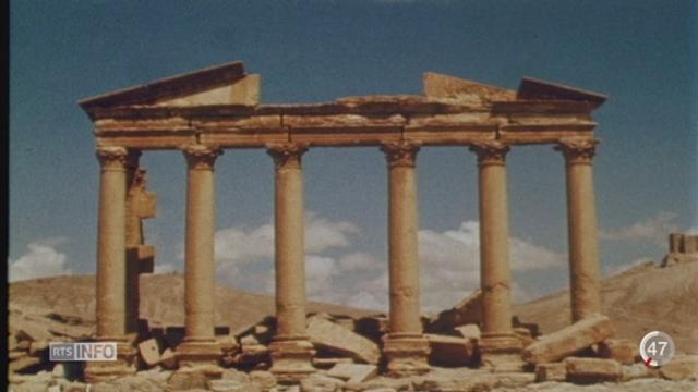 Le temple de Baalshamin à Palmyre aurait été détruit par les islamistes de Daesh [RTS]