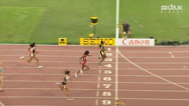 200 m F: Mujinga Kambundji (SUI) ne se qualifie pas pour la finale avec sa 4e place mais obtient le nouveau record de Suisse avec 22'64 [RTS]