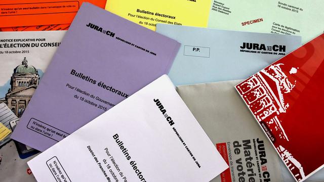 Pour la première fois, les élections fédérales et cantonales se dérouleront le même jour dans le Jura, le 18 octobre prochain. [Gaël Klein - RTS]
