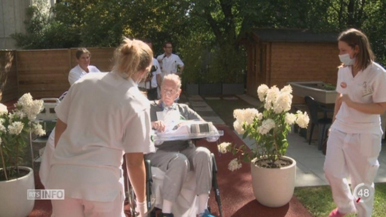 VD: le jardin thérapeutique du CHUV accueille les patients en éveil de coma [RTS]