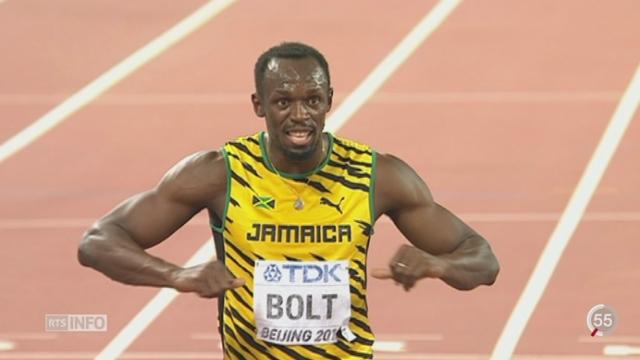 Athlétisme - Mondiaux Pékin: Usain Bolt a remporté le 200m [RTS]