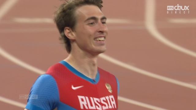 110 m haies H: Sergey Shubenkov (RUS) s'impose avec un nouveau record national de 12'98 devant Hansle Parchment (JAM) 2e et Aries Merritt (USA) 3e [RTS]