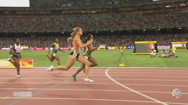 Athlétisme - Mondiaux de Pékin: la Néerlandaise Dafne Schippers remporte le 200m [RTS]