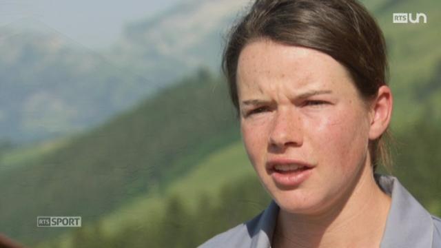 Portrait de Nathalie von Siebenthal, championne du monde de ski de fond des moins de 23 ans, qui a décidé de rester vivre à l'alpage [RTS]