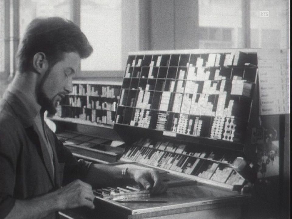 Le métier de  typographe dans les années 60 un métier d'avenir. [RTS]