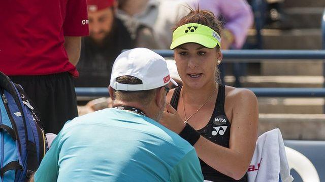 Belinda Bencic coaché par son père Ivan Bencic. [Warren Toda - EPA/Keystone]