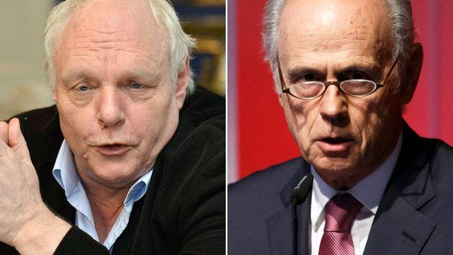 David Hiler (gauche) et Jacques-Simon Eggly. [Keystone]