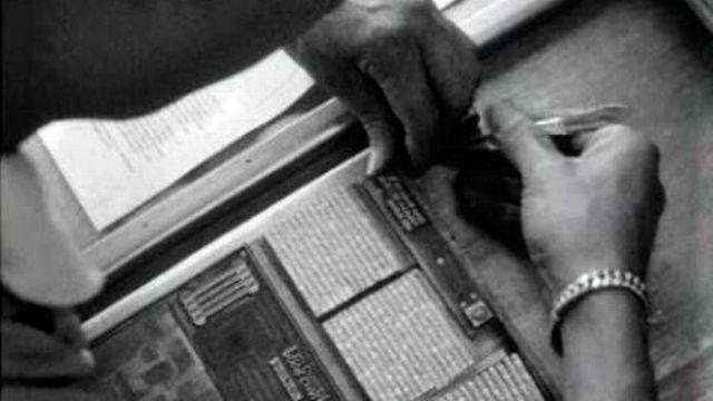 Le métier de typographe en 1968. [RTS]