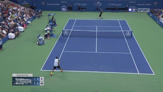 1er tour: Nick Kyrgios (AUS) - Andy Murray (GBR-3). (5-7 3-6) L'Australien résiste aussi 42 minutes dans la 2e manche [RTS]