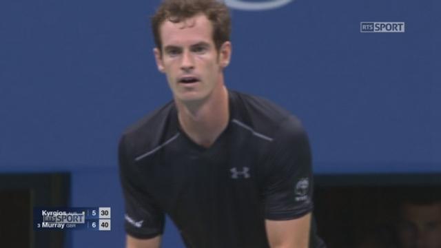 1er tour: Nick Kyrgios (AUS) - Andy Murray (GBR-3). (5-7) L'Ecossais met 51 minutes pour remporter la 1re manche [RTS]