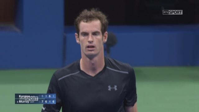 1er tour: Nick Kyrgios (AUS) - Andy Murray (GBR-3). (5-7 3-6 6-4 1-6) L'Australien finit par craquer en 2h43mn [RTS]