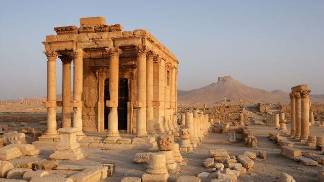 Le temple de Baalshamin se situe au nord de la cité de Palmyre. [Manuel Cohen - AFP]