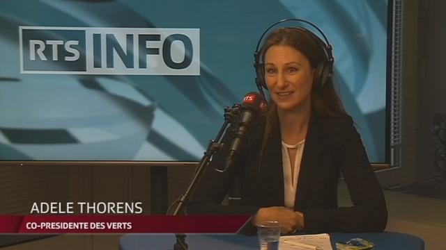 Face aux partis - Adèle Thorens, co-présidente des Verts suisses [RTS]