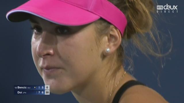 2e tour : Belinda Bencic (SUI-12) - Misaki Doi (JPN) (5-7 6-6). Un jeu encore plus extraordinaire : cette fois, Bencic renverse la vapeur ! [RTS]