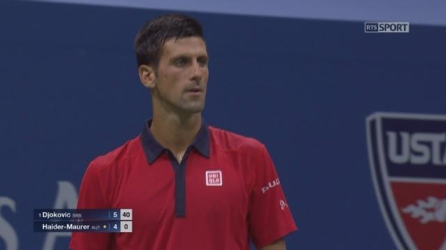 2e tour: Novak Djokovic (SRB-1) - Andreas Haider-Maurer (AUT) (6-4). [RTS]