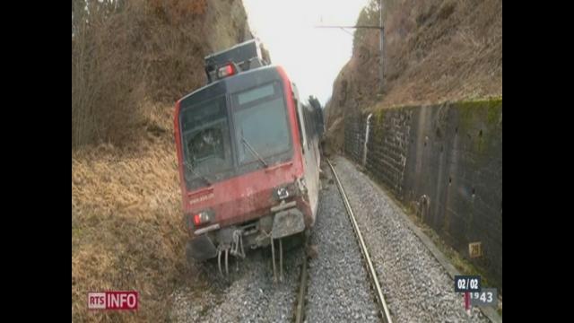 Un train a déraillé samedi matin entre Ecublens (FR) et Moudon (VD) [RTS]