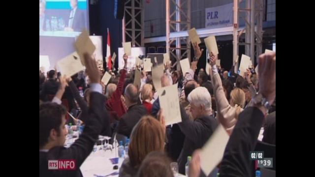 Les délégués libéraux-radicaux votent contre l'aménagement du territoire [RTS]
